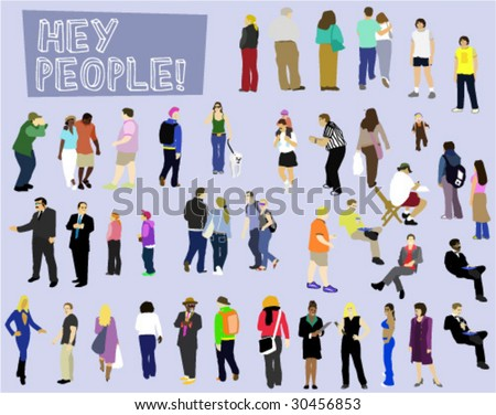 People Collection - Vector Illustration - stock vector
