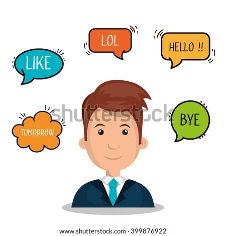people communicating design  - stock vector