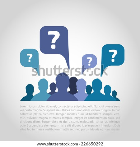 People communicating vector background - social media concept  - stock vector