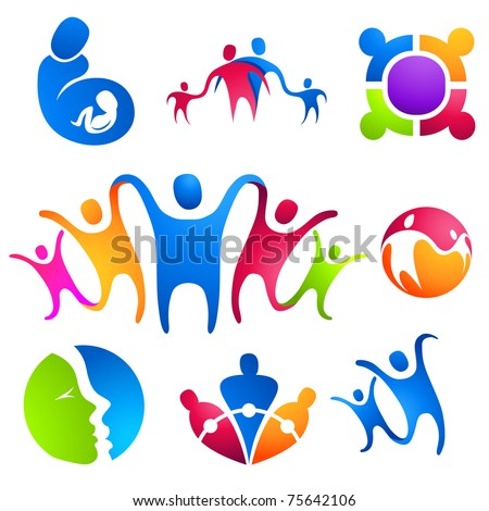 People Connected Designs. Vector illustration - stock vector