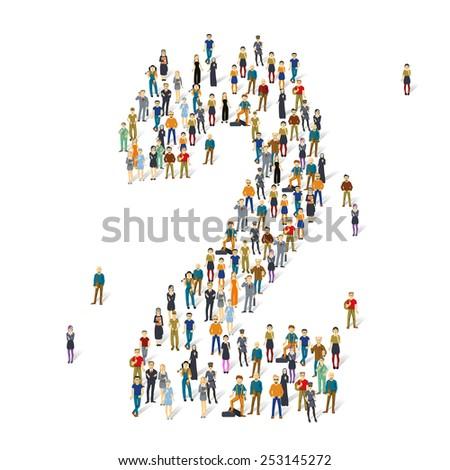 People crowd. Vector figures, 2 - stock vector