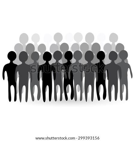 People crowd. Vector illustration. - stock vector