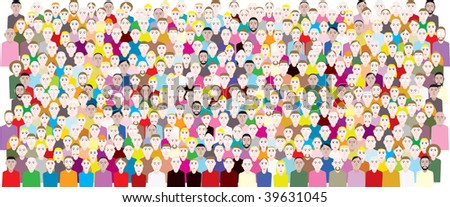 people crowded meeting - stock vector