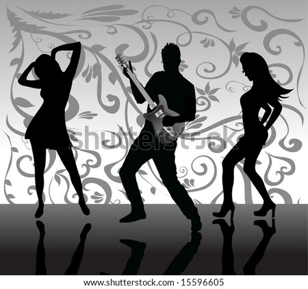 People dancing - stock vector