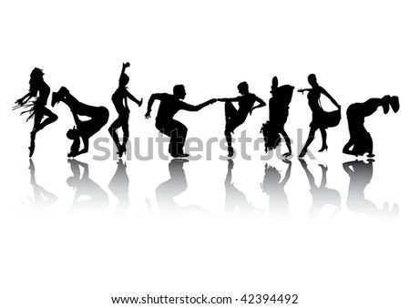 People dancing. - stock vector