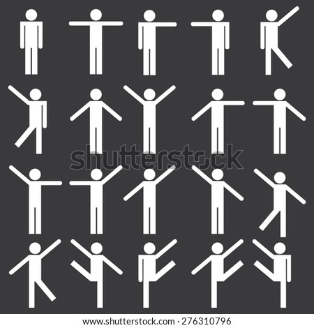 People dancing Icons - stock vector
