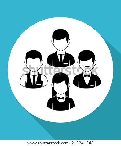People design over blue background,vector illustration