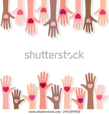 People giving their love background - stock vector