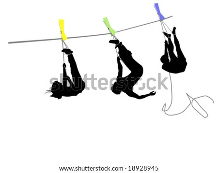 people hanging on a rope