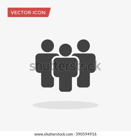People Icon in trendy flat style isolated on grey background. Crowd sign. Persons symbol for your web site design, logo, app, UI. Vector illustration, EPS10. - stock vector