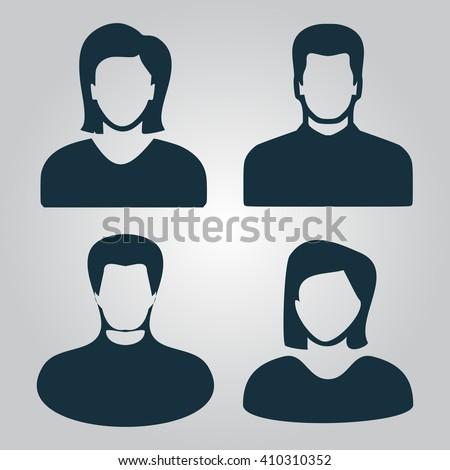 People Icon Vector.  - stock vector