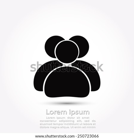 people icon, vector illustration. Flat design style - stock vector