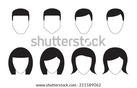 People Icons Set Different Man Woman Stock Vector 211589062 ...