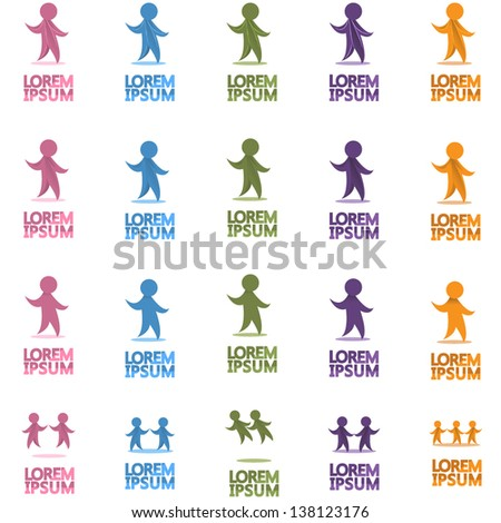 People Icons - Set - Isolated On White Background - Vector Illustration, Graphic Design Editable For Your Design. People Logo