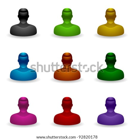 People Icons - Unknown User - stock vector
