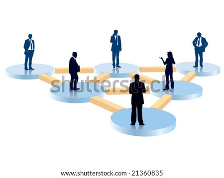 People in the organization chart, conceptual business illustration.