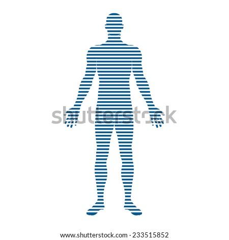 People logo Body stripes. Concept of motion, trending, Vector design - stock vector