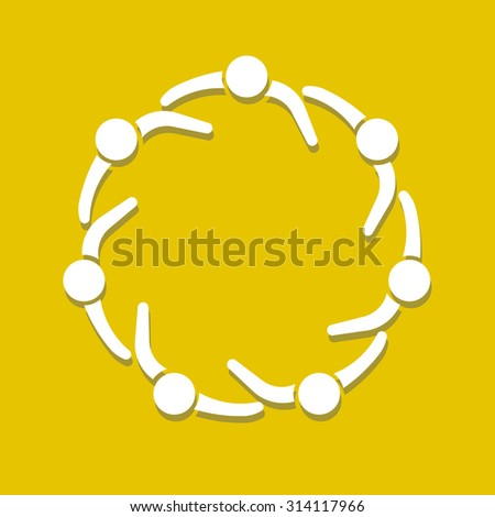 People logo. Partnership circle - stock vector