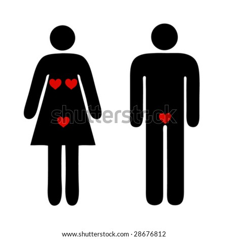 people love couple isolated silhouettes sign funny concept - stock vector