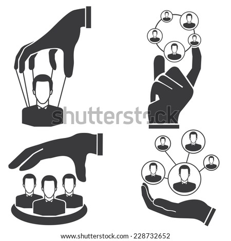people management, organization and manpower management concept - stock vector