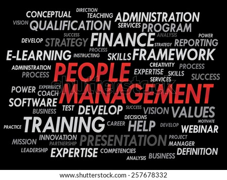 People Management word cloud, business concept - stock vector