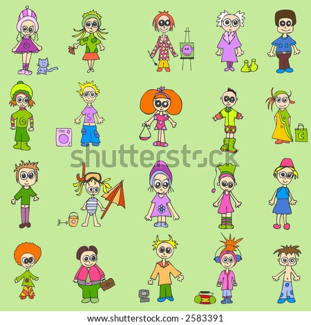 people mix - stock vector