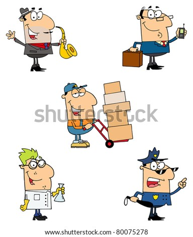 People Of Different Professions-Vector Collection 4 - stock vector