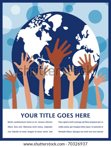People of the world design with copy space. - stock vector