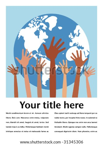 People of the world with copy space vector. - stock vector