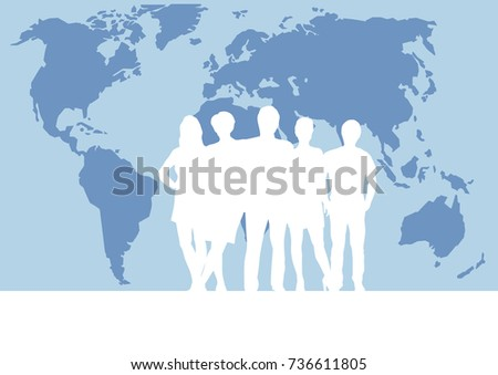 People on world map vector poster stock vector 736611805 people on world map vector poster and background teamwork and business concept gumiabroncs Choice Image