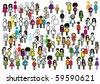 People people people... - stock vector
