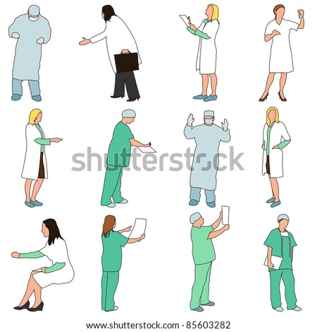 People - Professions - Medical - stock vector