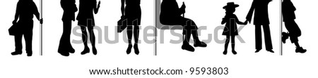 People's on the bus. - stock vector