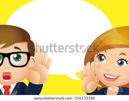 People Set - Business -  Speaking and listening - stock vector