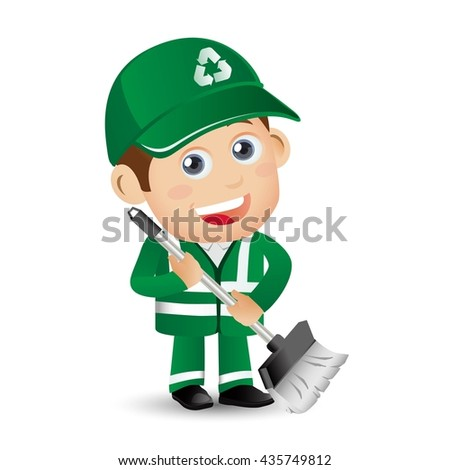 People Set - Profession - Street Cleaner