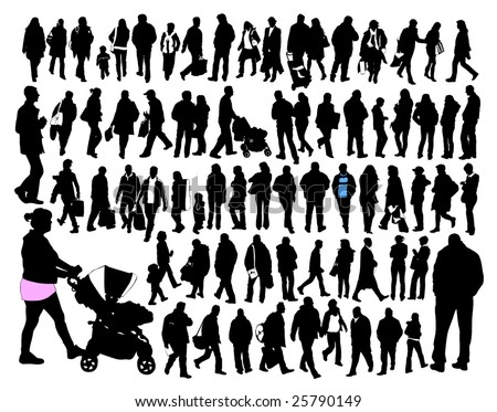 people, silhouette