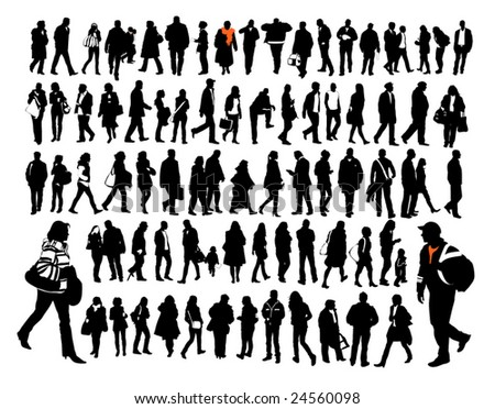 people, silhouettes