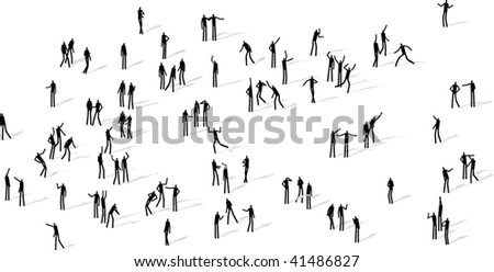 people square - stock vector