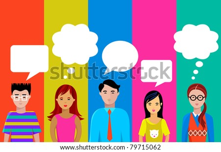 people talk - stock vector