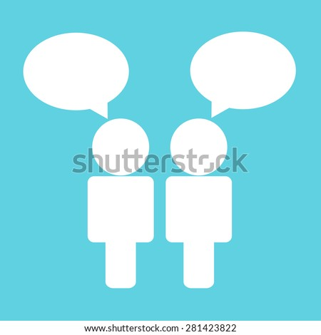 people talk icon - stock vector