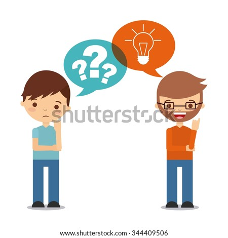 people thinking design, vector illustration eps10 graphic  - stock vector