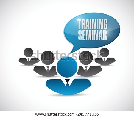 people training seminar illustration design over a white background - stock vector
