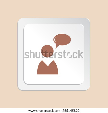People vector icon  - stock vector