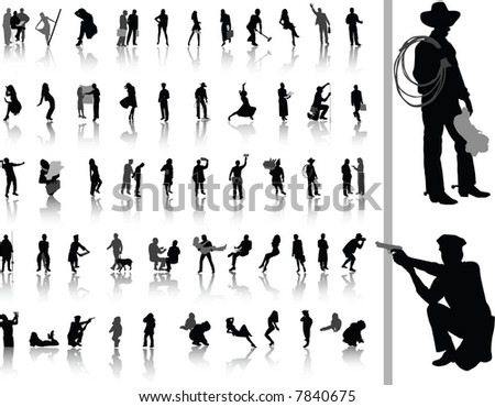 People. Vector silhouettes for your design. - stock vector