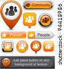 People web orange buttons for website or app. Vector eps10. - stock vector