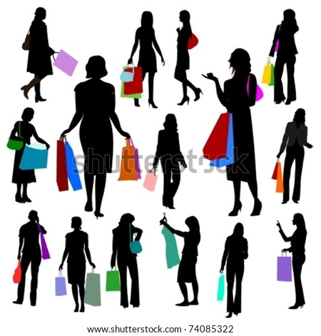 People - Women Shopping No.2. - stock vector