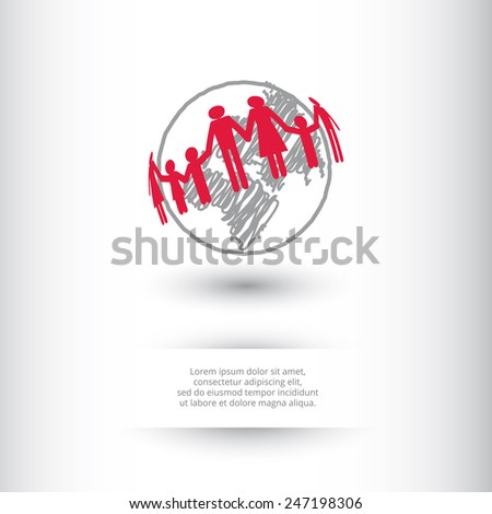peoples around the world - stock vector