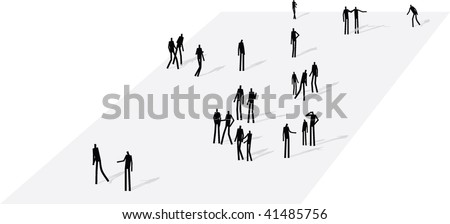 peoples crowded - stock vector