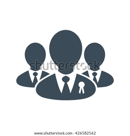 Peoples icon isolated on white background. vector illustration icon