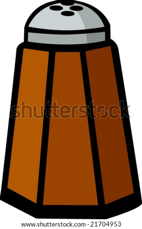 pepper shaker - stock vector